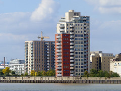 Private Residential Tower (Kombizz) Tags: 1120476 kombizz london 2015 thamesbarrier movablefloodbarrier riverthames floodplain hightides isleofdogs silvertown londonboroughofnewham rogerwalters building architecture privateresidentialtower se7 boothroad e16 wardswharfapproach