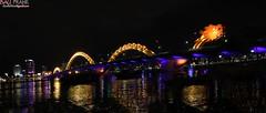 Dragon Bridge (Frank - Bau - ) Tags: bridge dragon rong danang night long exposure handhled handheld