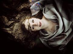Elisa (dieFlow) Tags: portrait woman outdoor blond dark nature wurzel naturallight eyes