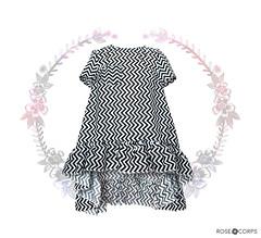 RC// black & white zig zag printed tunic ( n a o m i) Tags: fashion sewing handmade rosecorps zigzag blacknandwhite printed top clothes etsy shop tshirt diy