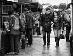 Arm In Arm (Geoff France) Tags: monochrome blackandwhite market street streetphotography lowry salford urban