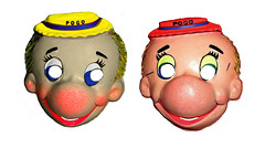 Pogo Possum Walt Kelly Cartoon Masks 0001 (Brechtbug) Tags: pogo possum walt kelly cartoon masks 1950s comic book vintage halloween mask costume color corrected from ben cooper original 1969 newspaper strip comics sunday funnies comicstrip opossum animal humor funny beast fable political satire witty southern okefenokee swamp critters south screen grab collegeville halco screengrab 2016