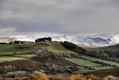 Autumn into Winter. (sidibousaid60) Tags: moorfield glossop derbyshire uk peakdistrict autumn fall winter snow mountains fields trees landscape outdoor farmhouse