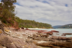 View to river and Barmouth Beach (jack eastlake) Tags: barmouth beach river mouth pambula safe swimming geology red rocks far south coast nsw merimbula ben boyd national park haycock point bushwalking secluded bega valley nikon d810