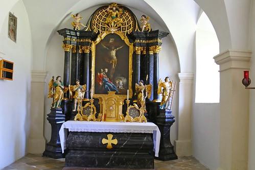Geras. Stiftskirche. Kreuzaltar, 1760