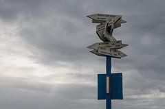 run away (simona.photo) Tags: sky clouds roadsign nikon d7000 sigma1750