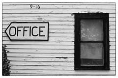 Office - Rehoboth Beach, DE (gastwa) Tags: nikon f6 58mm f14g afs slr hotel motel business black white blackandwhite bw film kodak tmax 400 monchrome rehoboth beach delaware sea ocean summer andrew gastwirth andrewgastwirth