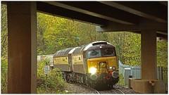 Northern Belles. (peterdouglas1) Tags: 6d43 valleyflasks britanniabridge a55expressway northernbelle northwalescoastrailway class57s