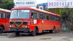 geovrai depot bus on ganapati jada schedule ( gonabarewadi ) (yogeshyp) Tags: msrtc st georaidepotbus msrtcparivartanbus