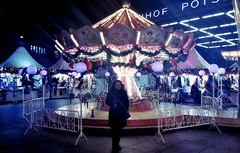 Snowstorm by the Carousel* (pianocats16, miau...) Tags: carousel christmas market winter city
