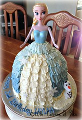 Frozen-themed  doll cake (Elsa) (pike.corinne) Tags: frozen elsa doll cake chocolate picmonkey