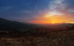 Sunset over valley in Sredna gora, Bulgaria (dontgiveacake) Tags: sunset bulgaria nature landscape moutin sun clouds fog autumn