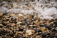 Looking for that perfect skipper . . . (Dr. Farnsworth) Tags: rocks stones skippers skipping colorful petoskeystone waves sound water bubbles pointbetsie mi michigan fall november2016