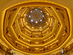 Emirates Palace - Golden Dome (Karsten Gieselmann) Tags: 8mmf18 abudhabi architektur asien em5markii emiratespalace exposurefusion farbe gebäude gelb gold hotel innenraum mzuiko microfourthirds olympus photomatix reise vae architecture building color golden kgiesel m43 mft travel yellow vereinigtearabischeemirate