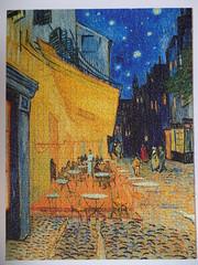 Cafe Terrace at Night, Van Gogh, Ravensburger, 1500 pieces (richieinnc) Tags: puzzle jigsaw van gogh 1500 ravensburger