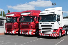 Scania Trio (fannyfadams) Tags: uk truck wagon lorry northwales a55 secondhandsales widness scaniarseries