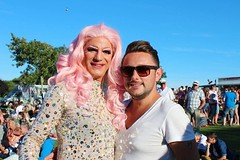"""Trixie Lyx and Johnny at Plymouth Pride 2015 - Plymouth Hoe • <a style=""""font-size:0.8em;"""" href=""""http://www.flickr.com/photos/66700933@N06/20605211676/"""" target=""""_blank"""">View on Flickr</a>"""