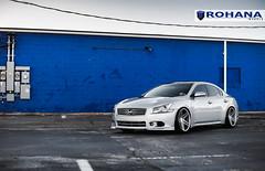 Nissan Maxima - RC8 Machine Silver (4) (Rohana Wheels) Tags: nissan wheels tuner rims import maxima nismo rohana nissanmaxima rc8 4dsc rcseries rohanawheels nissanpower