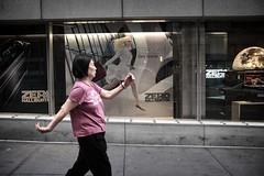 Defy Gravity (Pat Kelleher) Tags: nyc walking fuji candid streetphotography defygravity patkelleherphotography x100t