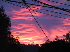 (Mad_Alice44) Tags: pink sunset sky nature clouds burningclouds