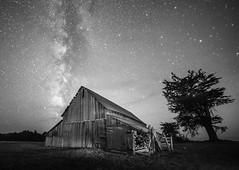 Mendocino Barn and Milky Way
