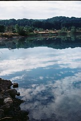 R1-7A (lukinykh) Tags: morning sky lake film water clouds 35mm reflect analogue filmphoto