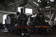 47406 & 42500 - Barrow Hill Roundhouse - LMS Event - 26.09.2015 (Tom Watson 70013) Tags: black pig flying ride five jubilee hill ticket steam event to sutherland gala 1000 barrow leander duchess roundhouse lms sidings jinty 8f 8274 12322 45305 43106 41708 42500 45690 46233 47406