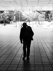 Man in the Shadow (horst_fischer56) Tags: light shadow bw man germany deutschland licht outdoor streetphotography tunnel mann schwarzweiss schatten rheinlandpfalz ludwigshafen berlinerplatz blackwithe walzmhle einfarbig schwarzweis xpro1 strasenfotografie fujixpro1