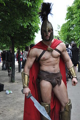 King Leonides (Ibrahim D Photography) Tags: london greek expo cosplay warrior sparta cosplayer 300 spartan londonmcmexpo excelcentre mcmexpo kingleonides spartanswhatisyourprofession
