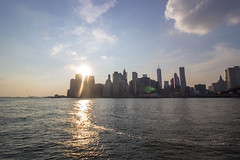 Sunset over lower Manhattan II (Olivier So) Tags: city nyc sunset usa ny newyork water brooklyn eastriver