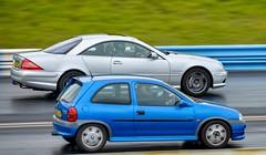 Corsa vs Mercedes (technodean2000) Tags: auto county uk hot car sport drag nikon outdoor shakespeare racing strip vehicle rod raceway lightroom d610 worldcars