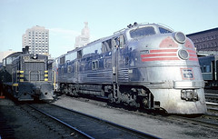 CB&Q E5A 9912A was at St. Paul Union Depot on June 27, 1964 (railfan 44) Tags: chicago burlington quincy