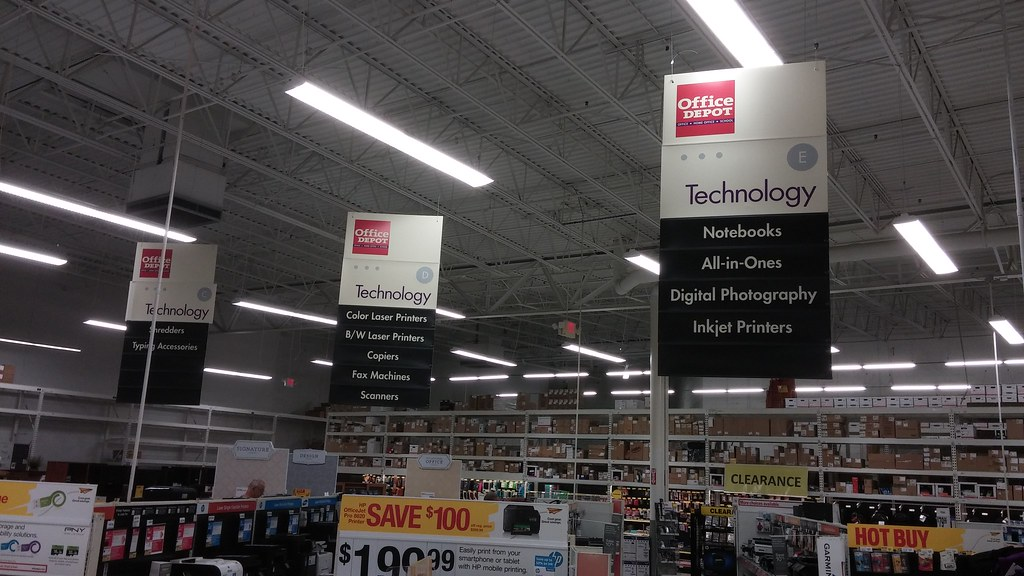 Office Depot Aisle Signs (Retail Retell) Tags: County Retail Office Store  Exterior Interior