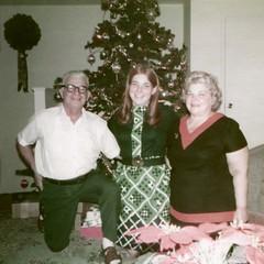 Trudy & Lou Berry and Linda Chesner - Christmas 1971 (nomad7674) Tags: christmas xmas grandma woman man girl mom 1971 berry grandmother mommy grandfather mother nj grandpa linda lou gertrude trudy kenilworth chesner