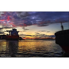 'Fire in the Sky' it often rains when I'm in #stavanger #norway but you're also blessed with the most amazing sunsets. #Wallkandy #travel #sunset #ships #cranes #dockyard #docks #fb #f #t #p (Photos  Ian Cox - Wallkandy.net) Tags: street sunset streetart art norway docks canon ian photography graffiti stavanger gallery d document cox quayside 2015 wallkandy