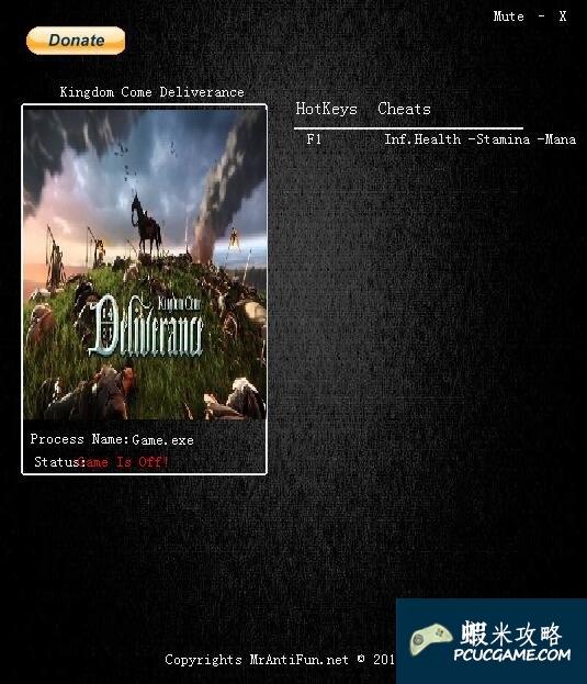 天國:拯救 v0.5三項修改器MrAntiFun版