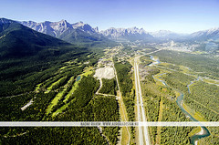 Canmore - Banff National Park, Canada (Naomi Rahim (thanks for 2 million hits)) Tags: road travel trees mountain canada mountains nature forest landscape nikon highway aerial wanderlust helicopter alberta pacificnorthwest banff rockymountains canmore pnw birdseyeview banffnationalpark canadianrockies 2015 travelphotography nikond7000 naomirahim