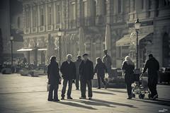 random people at main square Korzo
