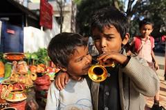 The mystery of fraternity (bluelotus92) Tags: india kids bangalore fraternity roads roadside karnataka basavanagudi bengaluru bulltempleroad kadalekaiparise