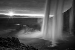 Solstice (vulture labs) Tags: winter summer sun waterfall iceland day solstice midnight longest seljalandsfoss watefall