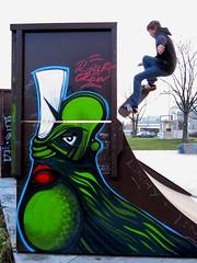 Ori (Walls of Belgrade) Tags: streetart graffiti mural serbia spraypaint belgrade beograd ori skateboardpark