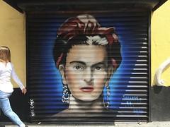 Artist's Gaze (-jamesstave-) Tags: mexico mexicocity cdmx df distritofederal ciudaddemxico centrohistrico street calle ciudad art arte mural graffiti grafiti artist frida kahlo color iphone5s