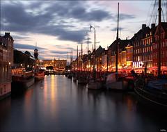 Nyhavn (ArtDen82) Tags: denmark copenhagen nyhavn harbour marina ships sunset longexposure reflection scandinavia fall