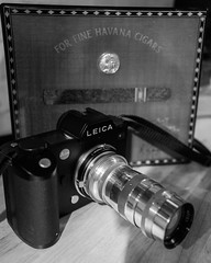 Some lenses are for shooting and some are for smoking: Leica Sl/601 Jupiter Kiev/Contax fit 135 lens. (Leicater) picture by this lens here : https://www.flickr.com/photos/77437968@N00/29983069603/in/dateposted-public/  Contax to M adapter , M adapter to T (adamnsinger) Tags: lecia sl 601 jupiter 135 kiev contax lens q adapter m t
