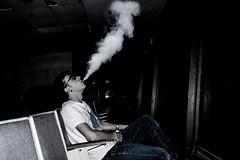 stoale_s1 (samanthatoalephotography) Tags: portrait portraiture night indoor abandoned smoke vape dark building