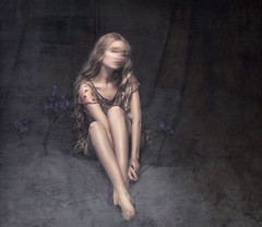 Ghost (Michelle.A.M.) Tags: ghost mystery storybook dark fairytale self portrait blonde ethereal graceful indoor