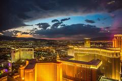 Las Vegas Sunsets (Thomas Hawk) Tags: america clarkcounty ferriswheel highroller lasvegas lasvegasstrip nevada sincity usa unitedstates unitedstatesofamerica vegas fav10 fav25 fav50