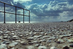 Sea Defence (geedub611) Tags: beach coast blue cloud sky barrier fence aggregate concrete sea