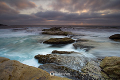 Morning From Little Bay (davywg) Tags: littlebay nsw morning sunrise nisi filter gnd hard soft reverse cloudy maroubra rock fishing fisherman canon 60d 1022mm uwa wideangle