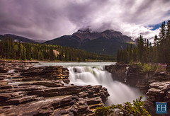 Athabasca Falls (felix.hohlwegler) Tags: canada canadianrockies rockies rockymountains kanada america travel traveling aroundtheworld athabasca athabascafalls falls river wasser water mountains berge clouds wolken sky himmel glacier glacierwater canon canoneos canoneos7d photography fotografie
